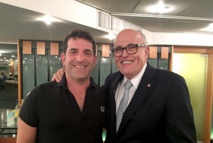 Steve Gardner with Rudy Giuliani in Jerusalem
