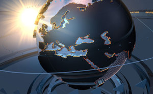 3D rendition of a globe